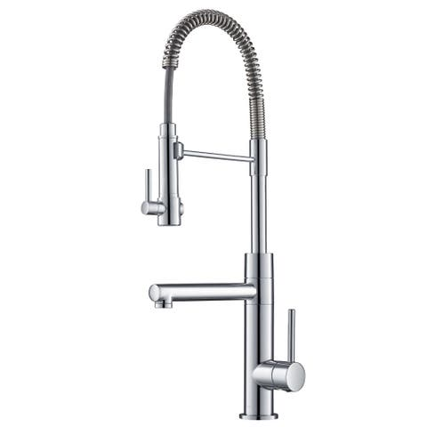 Kraus KPF-1603 Artec Pro 2-Function Commercial Pre-Rinse Kitchen Faucet, Spot Free Stainless Steel, Chrome, Matte Black