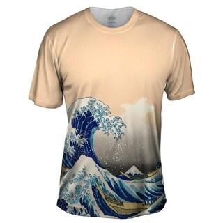 YIZZAM the great wave off kanagawa 1830 Mens Style Design T Shirt