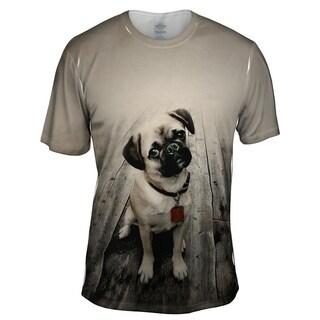 YIZZAM vintage wood pug Short Sleeve Mens Style Design T Shirt