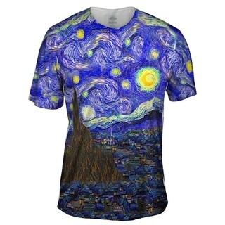 YIZZAM vincent van gogh the starry night Mens Style Design T Shirt