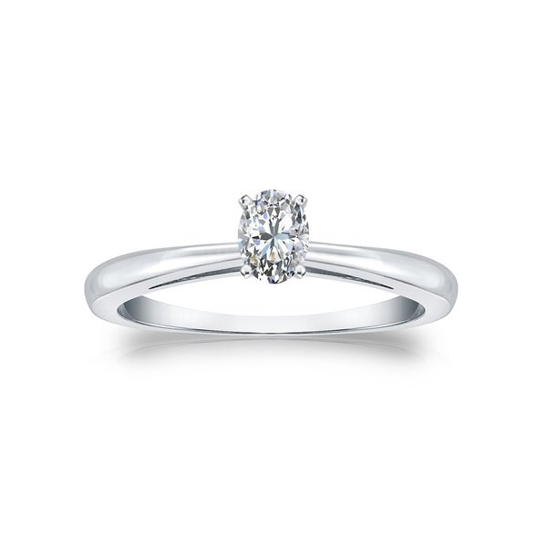 Engagement & Wedding Bridal & Wedding Party Jewelry Practical Three Stones 14k White Gold Oval Mount Unique Engagement Wedding Party Ring Buy One Get One Free