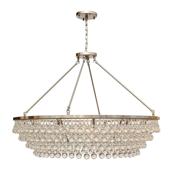 Gl Drop Crystal Chandelier Brushed