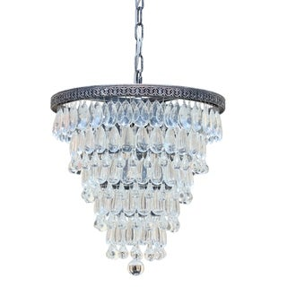 The Weston Glass Round 7-light Drop Crystals Pendant Light