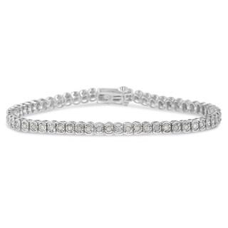 Sterling Silver 1ct TDW Diamond Tennis Bracelet (I-J, I3-PROMO)