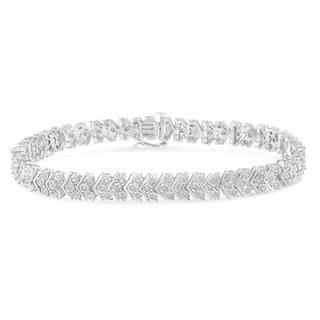 Sterling Silver 2.15 ct TDW Diamond Tennis Bracelet (I-J, I3-Promo)