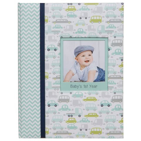 Pinnacle Frames and Accents Baby's First Year Milestone Memory Book Journal and Photo Album
