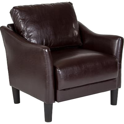Wallabout Modern Brown Leather Guest Chair