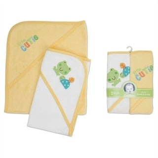Gerber Frog 2 Pack Hooded Towels - Yellow And White