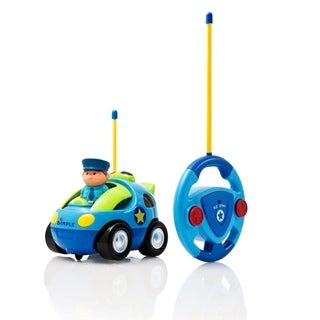 Dimple DC12618 Cartoon Remote Control (R/C) Police Car for Kids and Toddlers with Sound and Lights