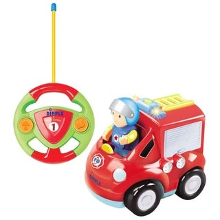 Dimple DC12619 Cartoon Remote Control (R/C) Fire Engine for Kids and Toddlers with Sound and Lights