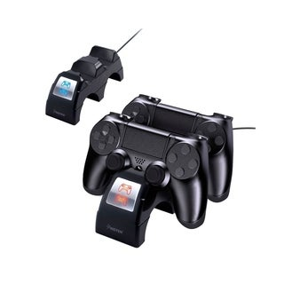 INSTEN [Fast Charging] Dual Controller Charging Station Cradle with Micro USB Cable for Sony Playstation 4 PS/PS4 Pro/Slim