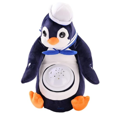 Dimple DC12701 Polly Penguin Nightlight Soother with Favorite Lullabies, Nature Sounds and Projecting Stars & Moon Light