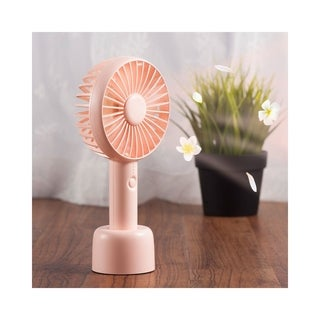 Insten Mini Portable Handheld USB Cooling Fan with Removable Aroma Diffuser and Aromatherapy Replacement Pads (5 Colors)