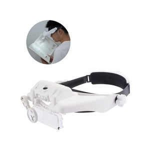 INSTEN Head Mount Handsfree Magnifying Glass Magnifier up to 11.5X w/ LED Lights for Watch Repair, Gaming, Reading