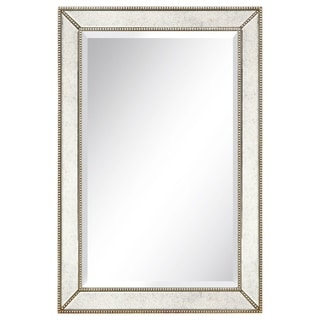 Champagne Beed Beveled Mirror - Clear