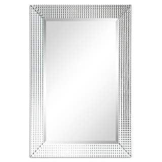 Bling Beveled Glass Rectangle Wall Mirror,Bathroom,Bedroom,Living Room,Ready to Hang - Clear