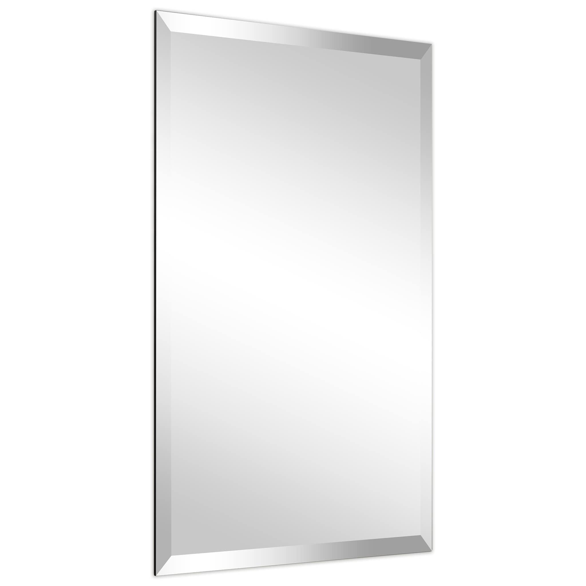 Shop Frameless Beveled Prism Wall Mirror Bathroom Vanity Bedroom Mirror 1 Beveled Edge Clear On Sale Overstock 24220389