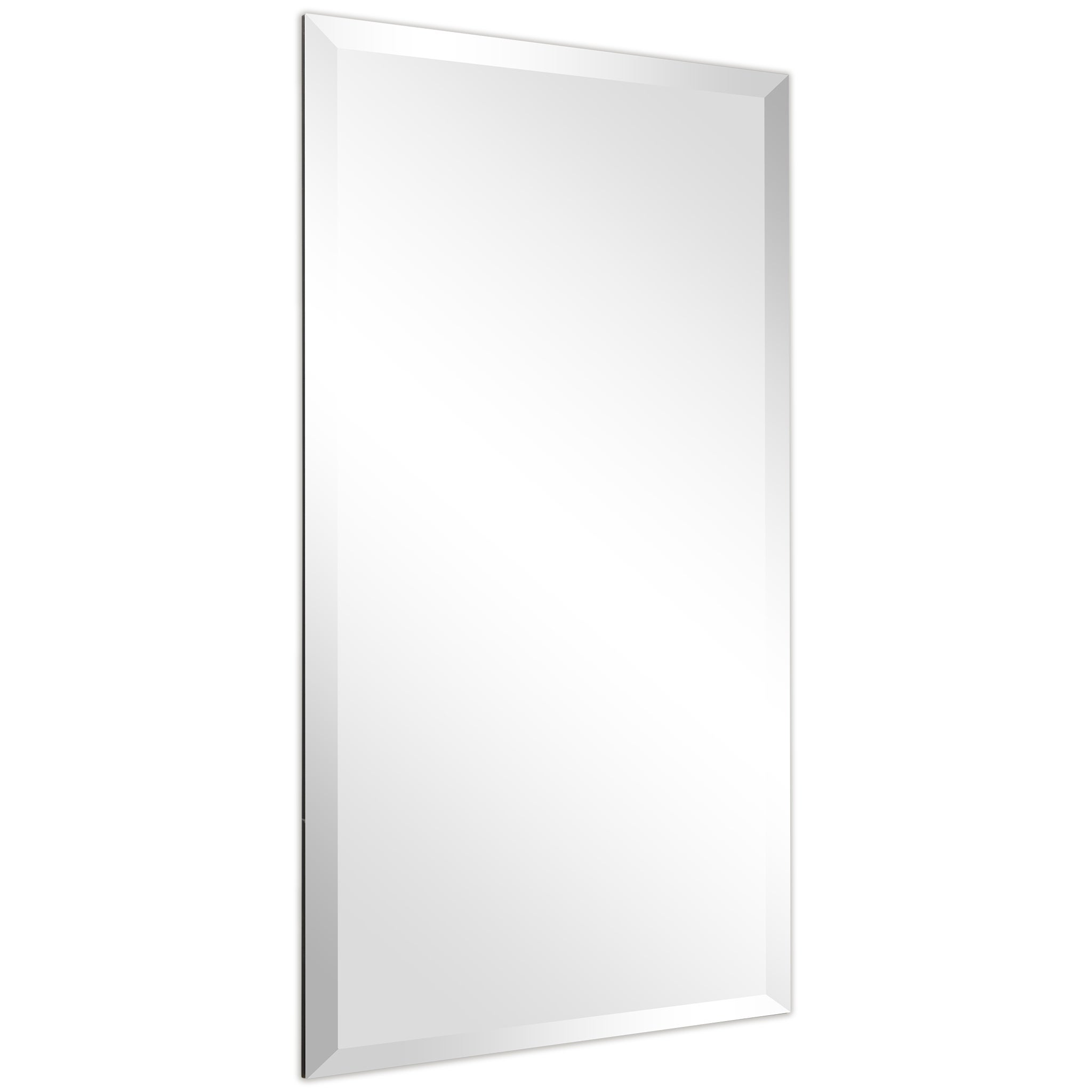 Picture of: Bathroom 20 Inch X 28 Inch Small Bedroom Rectangular Mirror The Better Bevel Frameless Rectangle Wall Mirror Vanity Talkingbread Co Il