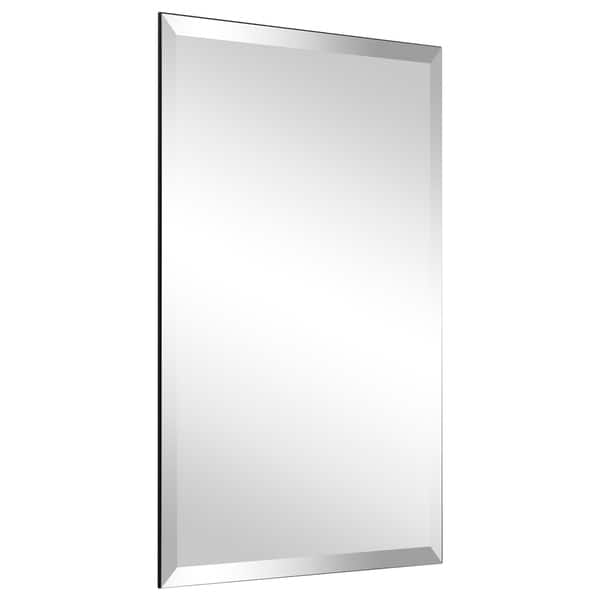 Frameless Beveled Prism Wall Mirror Bathroom Vanity