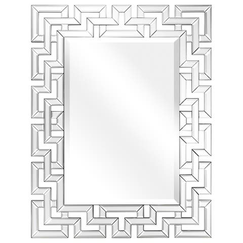 Elegant Beveled Decorative Wall Mirror,Bathroom,Bedroom,Living Room,Ready to Hang - Clear - 31 in. x 0.79 in. x 40 in.