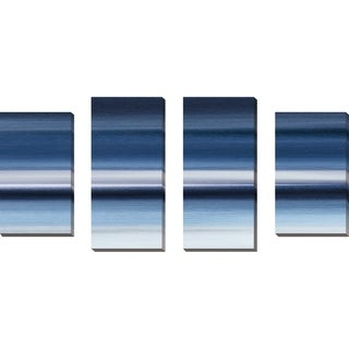 """Indigo II"" by Susan Jill Print on Canvas Set of 4 - Blue"