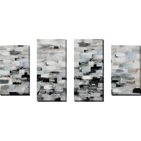 """Reflections"" by Susan Jill Print on Canvas Set of 4 - gray"