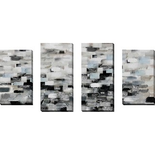 """""""Reflections"""" by Susan Jill Print on Canvas Set of 4 - gray"""
