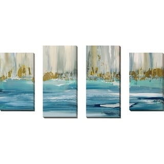 """Mountain Water I"" by Susan Jill Print on Canvas Set of 4 - Blue"