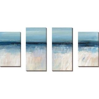 """On The Severn I"" by Susan Jill Print on Canvas Set of 4 - Blue"