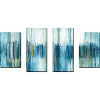 """""""Saturnia"""" by Susan Jill Print on Canvas Set of 4 - Blue"""