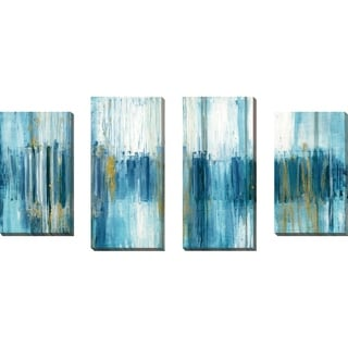"""Saturnia"" by Susan Jill Print on Canvas Set of 4 - Blue"