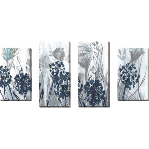 """Indigo Field"" by Susan Jill Print on Canvas Set of 4 - Blue"