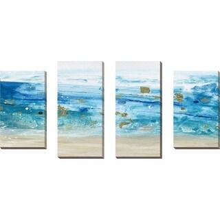 """Sea Glass Summer I"" by Susan Jill Print on Canvas Set of 4 - Blue"