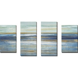 """Tuscan Shore I"" by Susan Jill Print on Canvas Set of 4 - Blue"