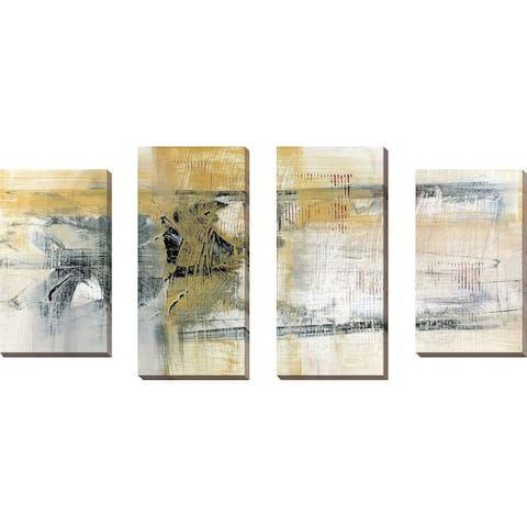 """Reflections II"" by Susan Jill Print on Canvas Set of 4 - Yellow"