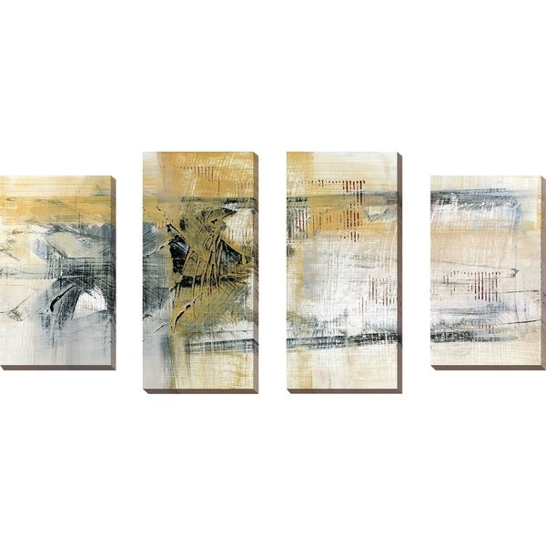 """""""Reflections II"""" by Susan Jill Print on Canvas Set of 4 - Yellow"""