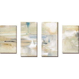 """""""Mountain Trail I"""" by Susan Jill Print on Canvas Set of 4 - Yellow"""