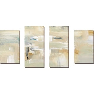 """""""Mountain Trail II"""" by Susan Jill Print on Canvas Set of 4 - Yellow"""