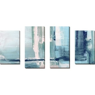 """Miss The Sea I"" by Susan Jill Print on Canvas Set of 4 - Blue"
