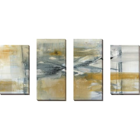 """Reflections I"" by Susan Jill Print on Canvas Set of 4 - Yellow"