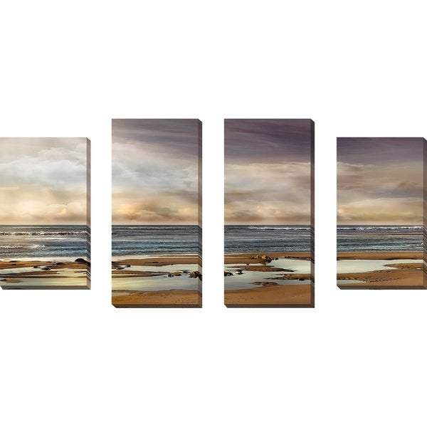 """""""Tidal Pool"""" by Mike Calascibetta Print on Canvas Set of 4 - gray"""
