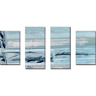 """Miss The Sea III"" by Susan Jill Print on Canvas Set of 4 - Blue"