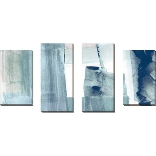 """Miss The Sea II"" by Susan Jill Print on Canvas Set of 4 - Blue"