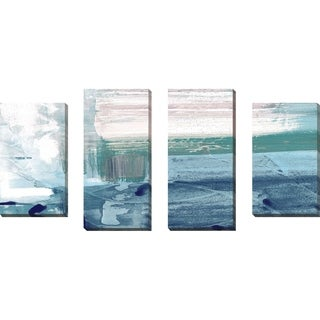 """Miss The Sea IV"" by Susan Jill Print on Canvas Set of 4 - Blue"
