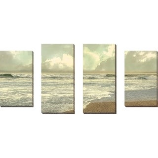 """""""Late Afternoon"""" by Mike Calascibetta Print on Canvas Set of 4 - gray"""