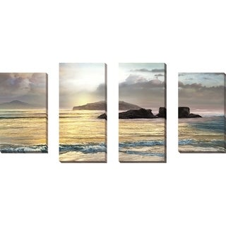 """""""Passing"""" by Mike Calascibetta Print on Canvas Set of 4 - gray"""
