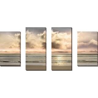 """Warm Breezes"" by Mike Calascibetta Print on Canvas Set of 4 - gray"