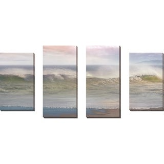 """""""California Surf"""" by Mike Calascibetta Print on Canvas Set of 4 - gray"""