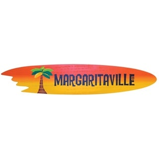 Margaritaville Outdoor Surfboard Wood Sign