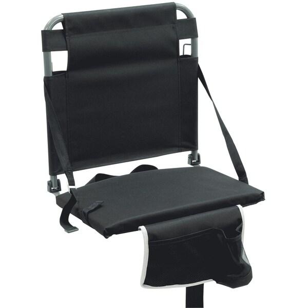 Shop Bleacher Boss Stadium Seat Black Free Shipping On